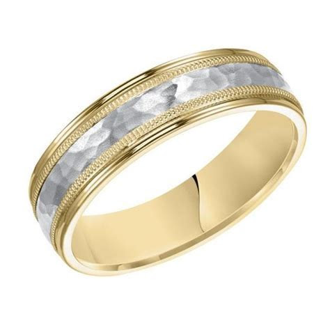 18k yellow gold and platinum 6mm wide mens 3 band style