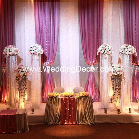 Wedding Backdrop   Dusty Rose, Silver & White   A dusty
