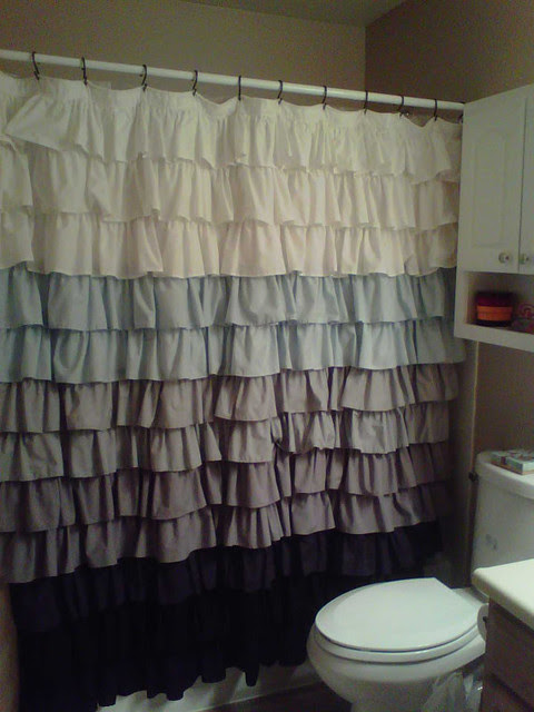 Fabric Ruffled Shower Curtain By Two Birds - eclectic - shower ...