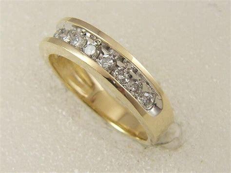 14 KT SOLID YELLOW GOLD LADIES 0.50 CARAT DIAMOND WEDDING