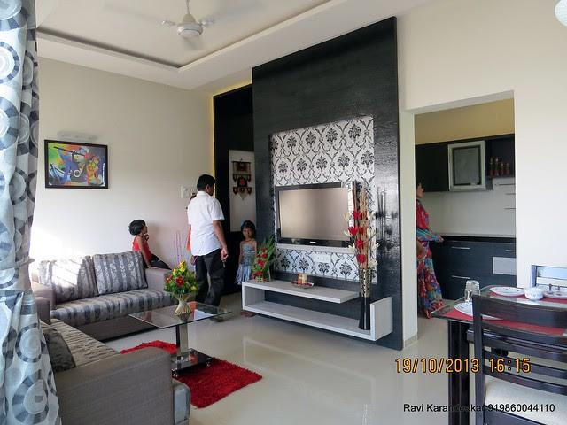 Living cum Dining - Visit 2 BHK Show Flat of Vastushodh Projects' UrbanGram Kolhapur, Township of 438 Units of 1 BHK 2 BHK Flats, behind S. P. Office, near Dream World Water Park, Kolhapur 416003 Maharashtra, India