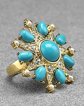 Carolee Lux Mediterranean Nights Star Ring