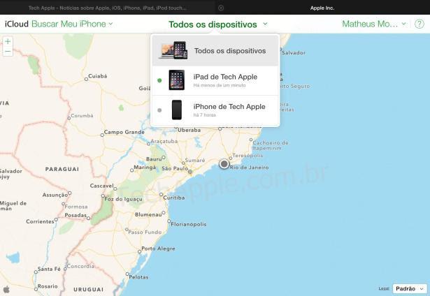 iCloud.com - Bloqueio de Ativação - Buscar iPhone