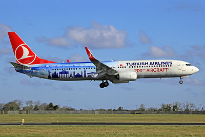 Turkish Airlines Boeing 737-9F2 ER WL TC-JYI (msn 40985) (200th Aircraft - We cover more countries than any other airline) DUB (SM Fitzwilliams Collection). Image: 911634.