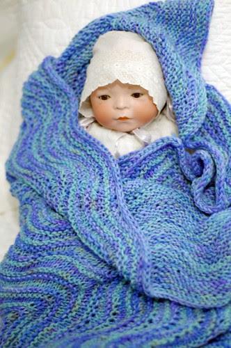 Rippled Baby Blanket - modeled