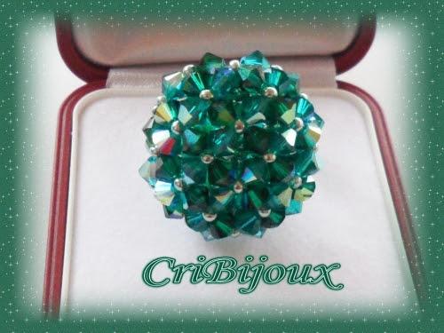 anello madame dupont swarovski smeraldo