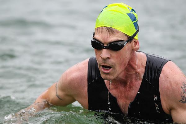 Close-up: Swim Leg - 2014 Noosa Triathlon, Noosa Heads, Sunshine Coast, Queensland, Australia; 2 November. Camera 2. Photos by Des Thureson - disci.smugmug.com