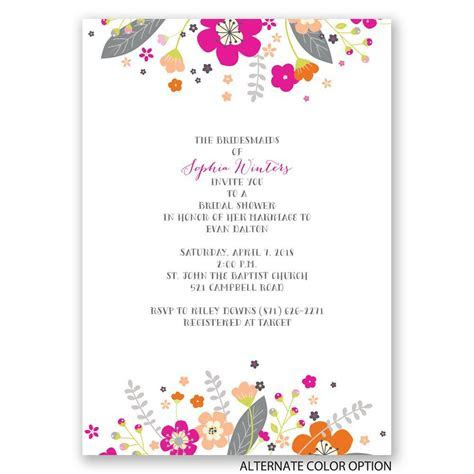 Floral Explosion Bridal Shower Invitation   Invitations By