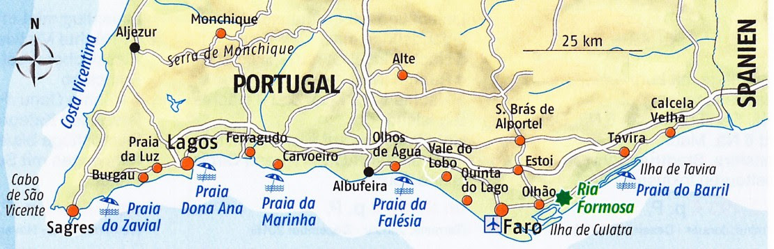 algarve strände karte Algarve Strände Karte   Karte