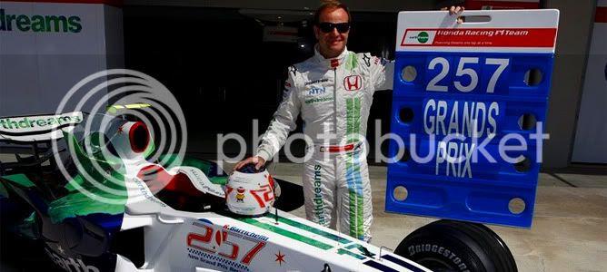 Rubens Barrichello 257 GP Honda 2008