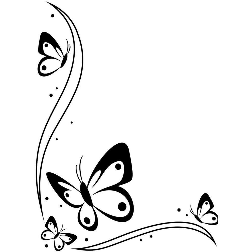 Butterfly Corner Border Clipart Best Butterfly Corner Designs In