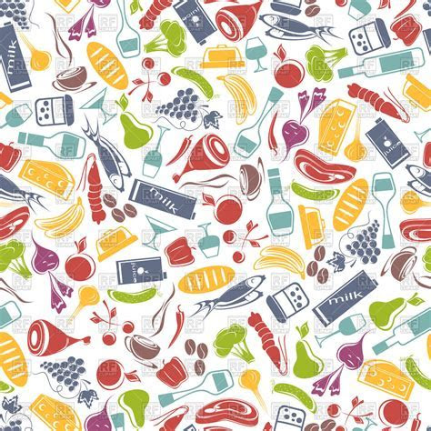 Seamless food background Royalty Free Vector Clip Art