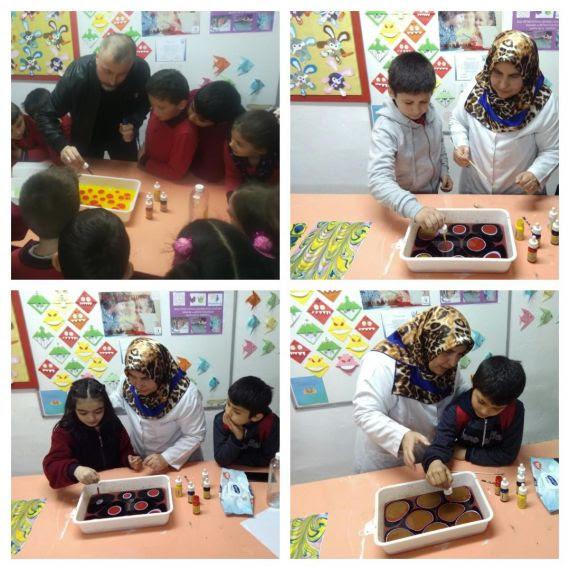 öğrenciler Ebru Sanatı Ile Tanıştı Eğitim Bilişim Ağı