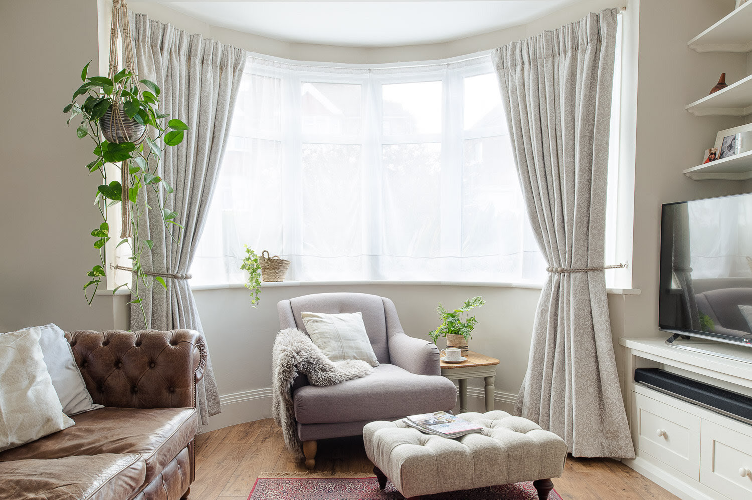 Our bay window curtains  Fifi McGee  Interiors + Renovation Blog