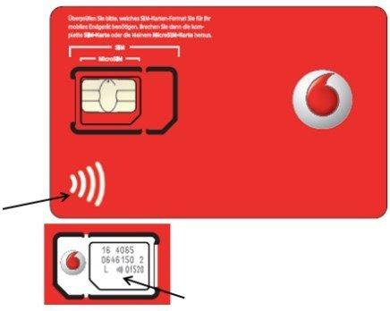 Die Neuen Nfc Sim Karten Von Vodafone