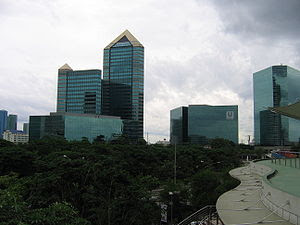 SCB Park Plaza in July, Bangkok, Thailand. HQ ...