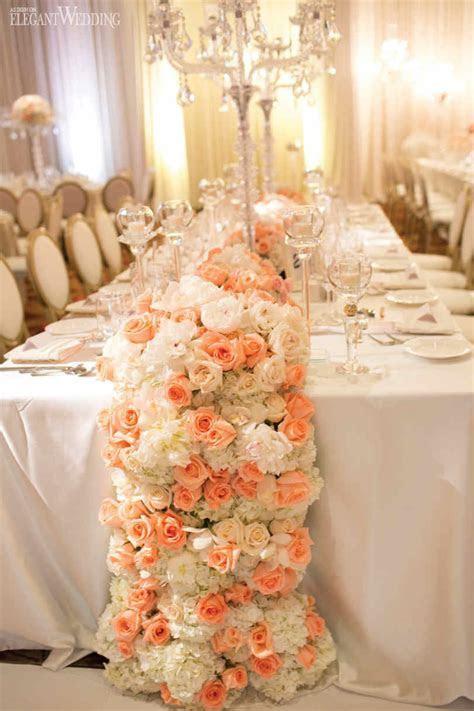 Elegant Peach & White Wedding   ElegantWedding.ca