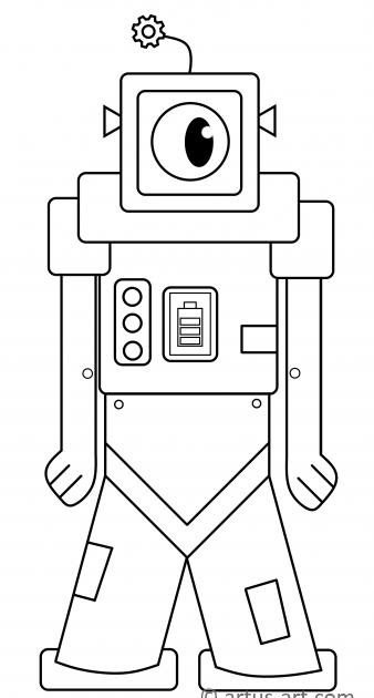 malvorlage roboter gratis