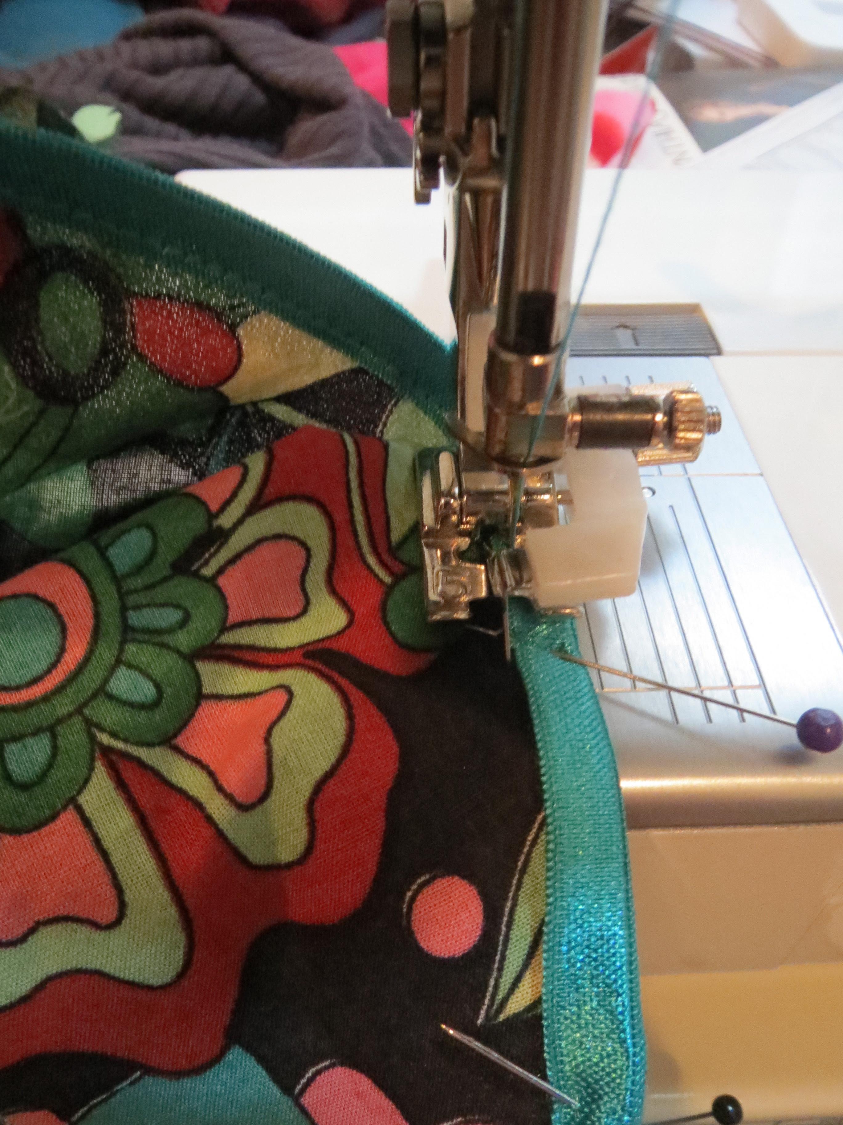 Stitching on Foldover Elastic