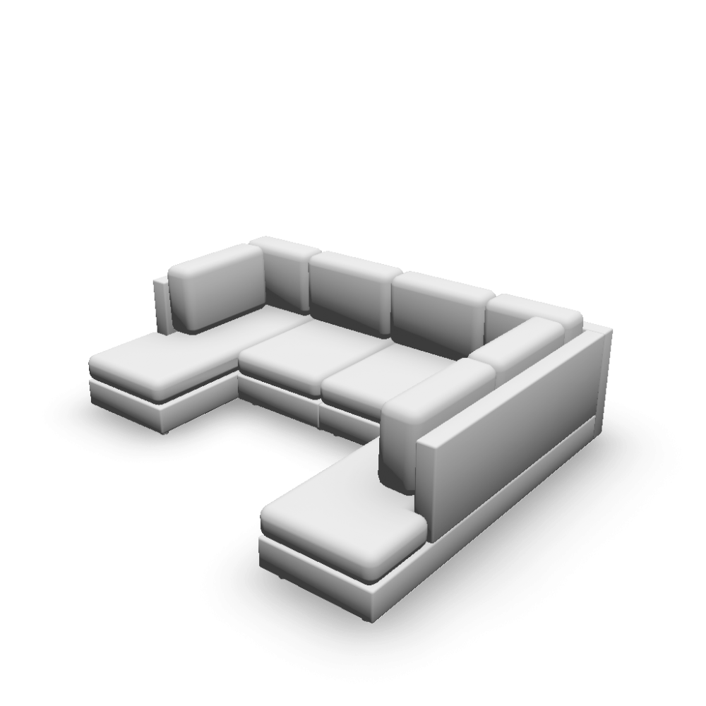 U-Form sofa - Design and Decorate Your Room in 3D