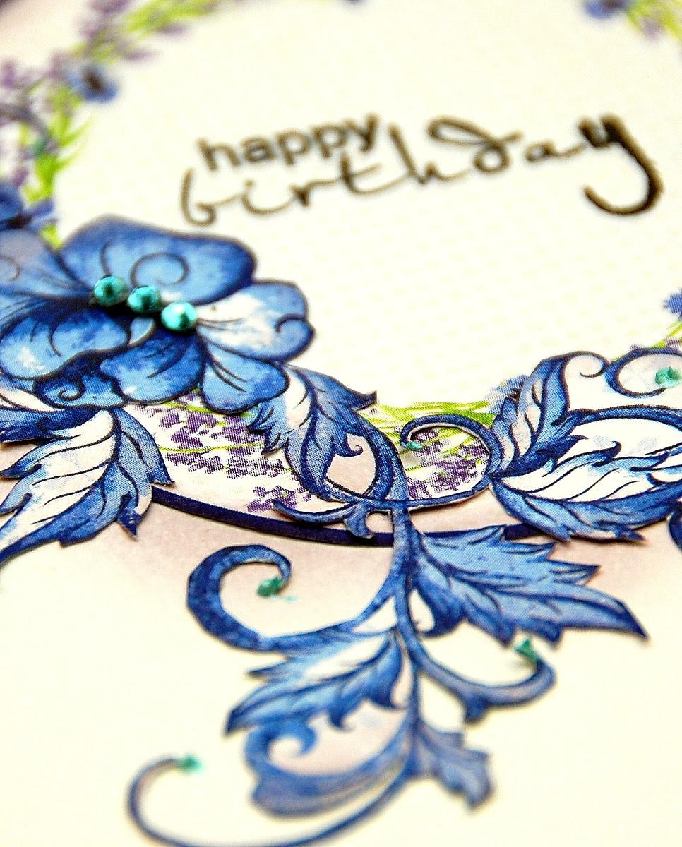 Purple Birthday Cards by Irene Tan using BoBunny Secret Garden Collection