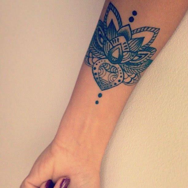 Watercolor Lotus Flower Tattoo On Forearm