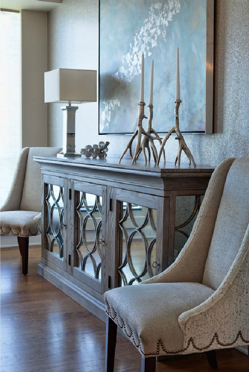 Mirrored Buffet - Transitional - entrance/foyer ...