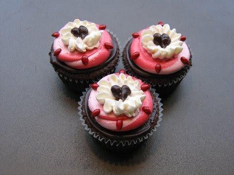 Valentine's cupcakes from Swirlz Cupcakes