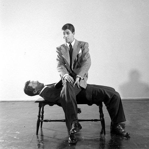 Happy Birthday, Jerry Lewis! Born 91 years ago today on March 16, 1926 in Newark NJ. He is pictured here sitting on his comedy partner, Dean Martin in 1949. (Ralph Morse—The LIFE Picture Collection/Getty Images) #LIFElegends #JerryLewis #HBD #TBT