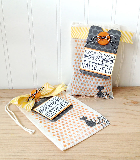 Halloween Treat Bags Reverse Confetti by Kimberly Crawford