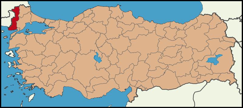 خريطة ادرنة