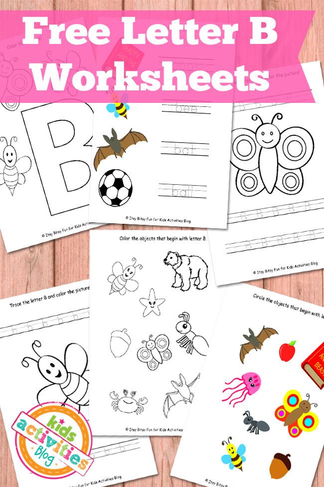 Letter B Worksheets Free Kids Printables