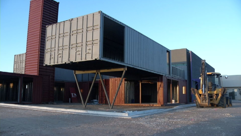 New retail center built with shipping containers to ...