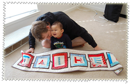 Taihei and his quilt