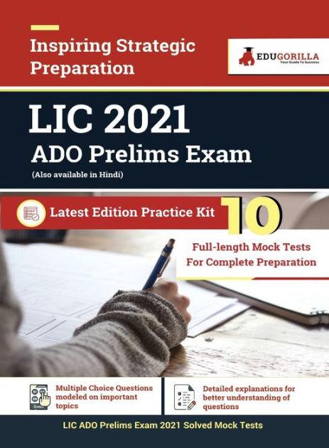 LIC ADO Prelims Exam 2021 10 Mock Tests For Complete Preparation by EduGorilla, Paperback ...