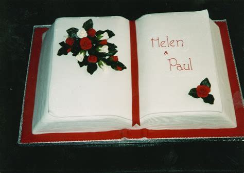 Open Book Wedding Cake « Susie's Cakes