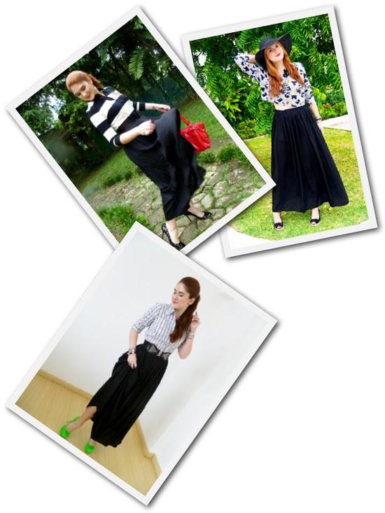 Black Maxi skirt Remix by The Joy of Fashion