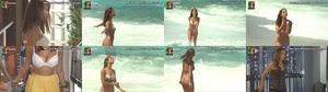 Mariana Monteiro sensual em biquini na serie Agua de Mar e em lingerie na novela Destinos cruzados