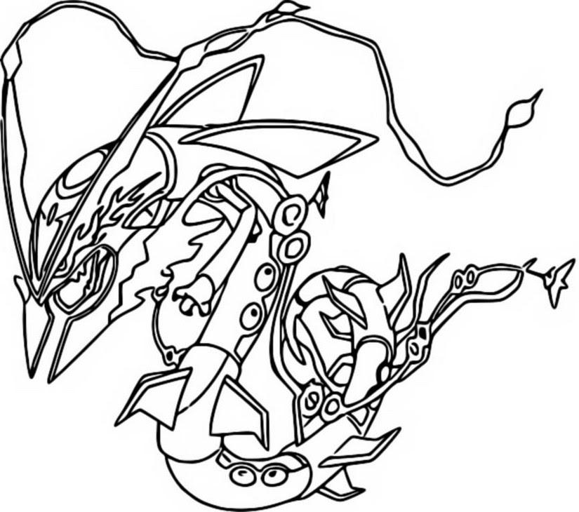Disegni Pokemon Mega Rayquaza Da Colorare Coloradisegni