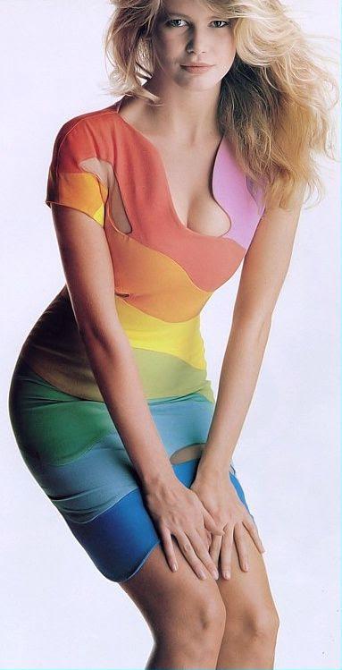 1990 - Claudia Schiffer in Thierry Mugler
