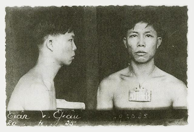 Nhà tù Côn Sơn - Ảnh căn cước năm 1935 của tù nhân Trần Văn Giàu (1911-2010)