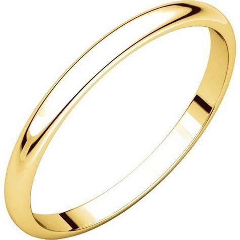 116761E 18K Gold 2 mm Women Plain Wedding Ring