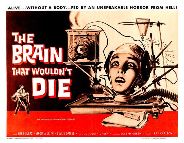 Reynold Brown - The Brain That Wouldn't Die (American International, 1962) half sheet