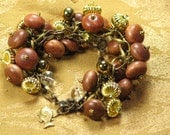 Bayong Wood and Brass Bracelet