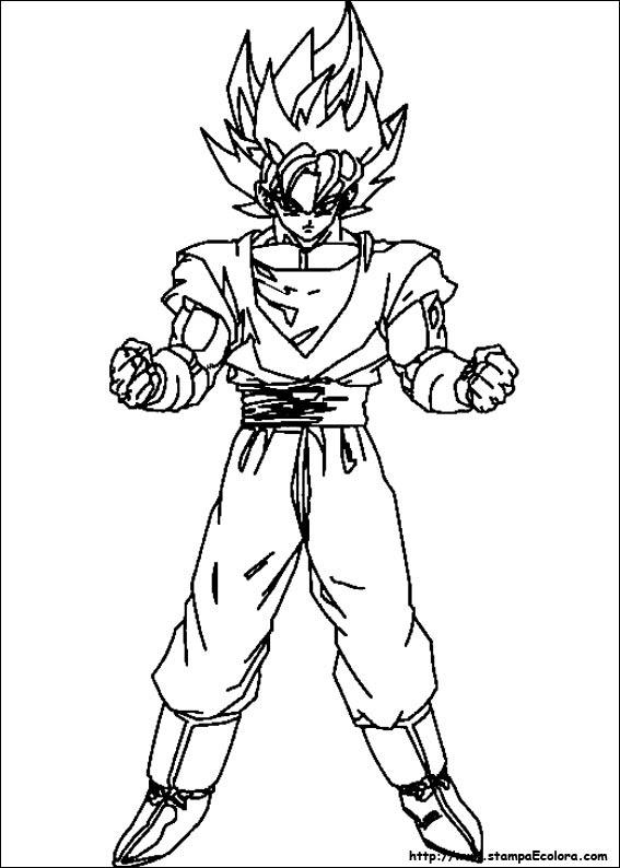 Goku Ultra Istinto Da Colorare Stampae Colorare