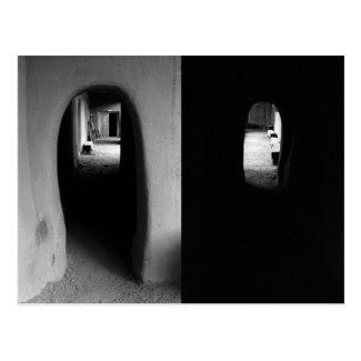 Adobe Corridor: Black and White photos of Taos, NM Post Cards
