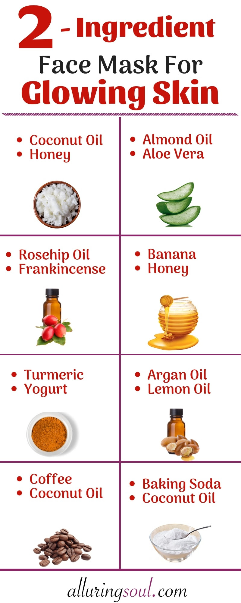 15 Effective 2 Ingredient Face Pack For Glowing Skin Alluring Soul