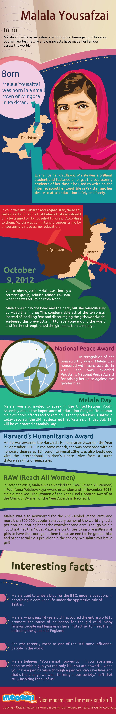 Infographic: Malala Yousafzai #infographic