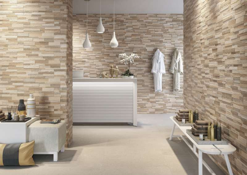 Wall Art 3D Wood Look Ledger Wall Tile | Ceramica Rondine ...