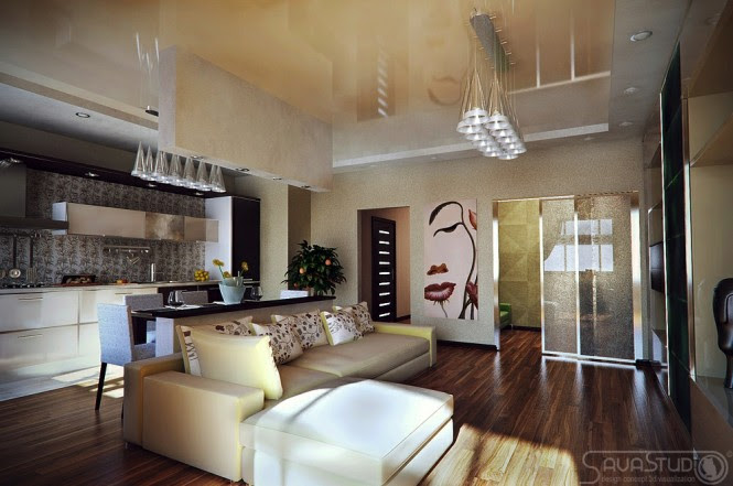 Contemporary apartment layout